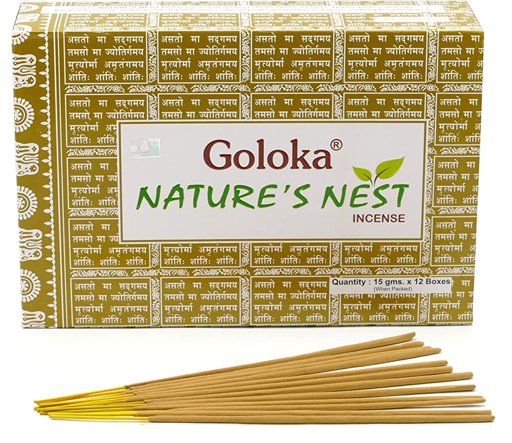 豊富な復活させる有益Goloka Nature's Nest Masala Incense Sticks 15gms x 12 Packs by Goloka