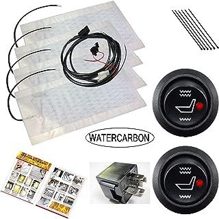 WATERCARBON Tech Era Carbon Fiber Seat Heater Kit Hi/Lo Setting, 2 Seats