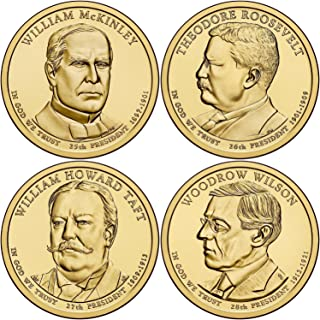 2013 P Complete Set of all 4 Presidential Dollars Uncirculated
