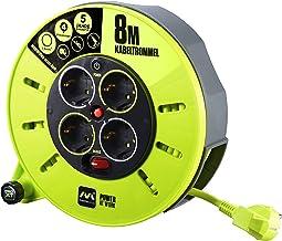 Masterplug Pro-XT KASSETTE S Kabeltrommel Kabelbox 8m mit 4 Steckdosen, Schalter und Thermoschutz