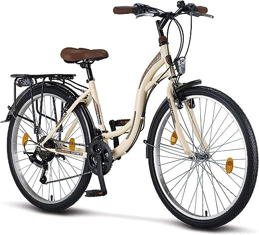 Licorne Bike Stella Premium City Bike in 24,26 und 28 Zoll – Fahrrad für Mädchen, Jungen, Herren und Damen – 21 Gang-Schaltung – Hollandfahhrad