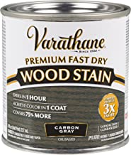 Varathane 307416 Premium Fast Dry Wood Stain, Half Pint, Carbon Gray