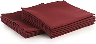 Yourtablecloth Cloth Dinner Napkins100% Spun Polyester with Hemmed Edges 20x 20 Set of 12 (Burgundy)