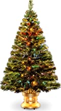 "National Tree Fiber Optic Radiance Fireworks Tree with Gold Base, Led Lights, 48"""