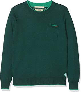Scotch /& Soda Boys Crew Neck Pull Color Pop Details in Soft Quality Jumper