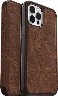Otterbox Strada   elegante, sturzsichere Folio Schutzhülle aus echtem Leder für Apple iPhone 12 Pro Max, braun