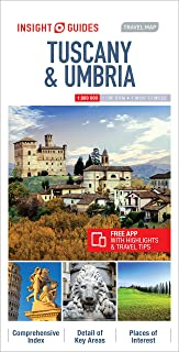 Insight Guides Travel Map Tuscany & Umbria (Insight Travel Maps)