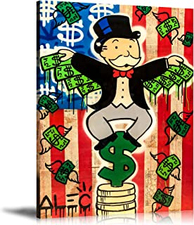 Newartprint ALEC Monopoly HD Printed Oil Paintings Home Wall Decor Art On Canvas Money Wings 24x32inch Unframed
