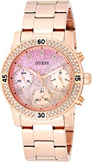 Guess Womens Quartz Watch, Chronograph Display and Stainless Steel Strap W0774L3