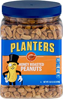 Planters Dry Honey Roasted Peanuts, 34.5 Ounce, Pack of 2