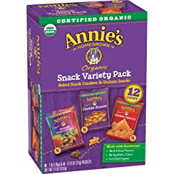 Annie's Variety Snack Pack, Cheddar Bunnies/Friends Bunny Grahams/Cheddar Squares, Baked Snack Crack