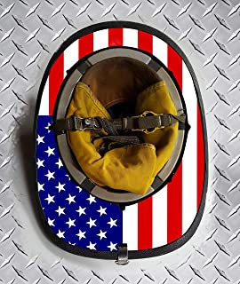 Jeep Grill Skins Standard USA American Flag Fire Helmet Wrap (Cairns 1044)
