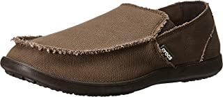 Crocs Men's Santa Cruz Loafer | Casual Comfort Slip On | Lightweight Beach or Travel Shoe