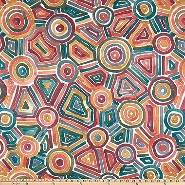 Robert Allen Home Songlines Duck Fabric, Cinnabar, Fabric By The Yard