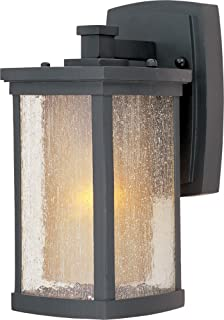 Maxim 3152CDWSBZ Bungalow 1-Light Wall Lantern, Bronze Finish, Seedy/Wilshire Glass, MB Incandescent Incandescent Bulb , 60W Max., Dry Safety Rating, Standard Dimmable, Glass Shade Material, Rated Lumens