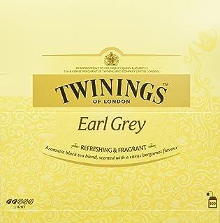 Twinings Earl Grey Schwarztee 200g, Schwarzer Tee aus China, mit feinstem Bergamotte-Aroma  100 Teebeutel, Tea 1er Pack 1 x 200 g