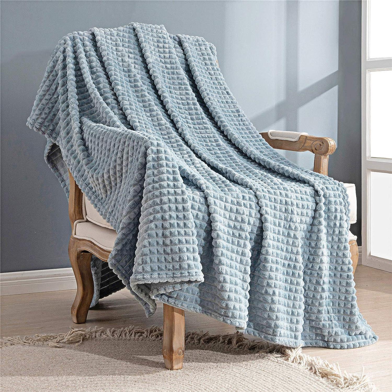 All items free shipping Topfinel Flannel Grey Blue Throw Blanket Cheap x Lightweight Corn 6 50