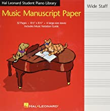 Hal Leonard Student Piano Library Music Manuscript Paper: Wide Staff