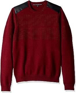 Guess Men's Long Sleeve Honeycomb Stitch Sweater
