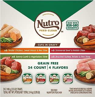 Nutro Grain Free Adult Wet Dog Food Cuts in Gravy Variety Packs