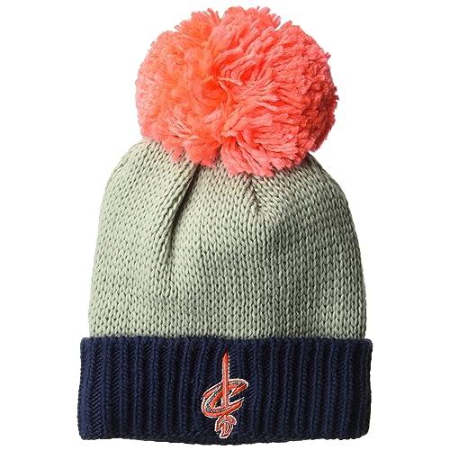 84c62e51aa7 adidas NBA Women s Cuffed Knit Hat with Neon Pom