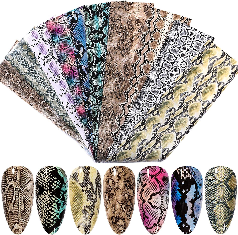 Popular popular Credence Snake Nail Foil Transfer Art Stickers Supplies Laser