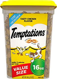 TEMPTATIONS Classic Crunchy and Soft Cat Treats, 16 oz.