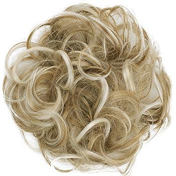 PRETTYSHOP Scrunchy Bun Up Do Hair piece Hair Ribbon Ponytail Extensions Wavy Messy Strawberry blonde mix # 26H613 G36A