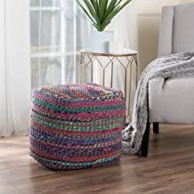 Christopher Knight Home Marcela Hand Woven Fabric Pouf (Indigo)