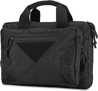 Procase Tactical Pistol Case, Shooting Range Pistol Bag Handgun Magazine Pouch Shooting Range Duffle Bag for Hunting or Shooting Range Sport