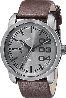 Diesel Men's Double Down 46 Three-Hand Gunmetal-Tone Stainless Steel Watch DZ1467