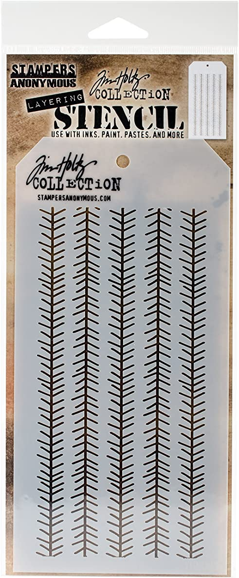 Stampers Anonymous THS094 Tim Holtz Layered Stencil 4.125