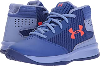(アンダーアーマー) UNDER ARMOUR キッズバスケットボールシューズ?靴 UA GPS Jet 2017 Basketball (Little Kid) Jupiter Blue/Blue/Neon Coral 12.5 Little Kid (18.5cm) M