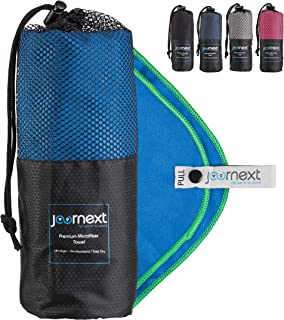 Journext Microfiber Towel for Beach, Travel, Hiking, Camping, Fitness, Backpacking, Ultra-Light, Anti-Bacterial, Quick Dry...