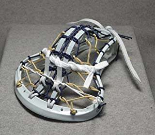 Blackfeet Lacrosse Admiral Inspired by US Navy Mini Stick Traditional strungPita Pocket White Leathers - White Head with White Wash Finish Handle