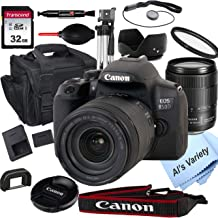 $1049 » Canon EOS 850D (Rebel T8i) DSLR Camera with 18-135mm f/3.5-5.6 is USM Zoom Lens + 32GB Card, Tripod, Case, and More (18pc ...