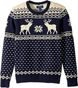 Polo Ralph Lauren Kids - Reindeer Cotton-Wool Sweater (Big Kids)