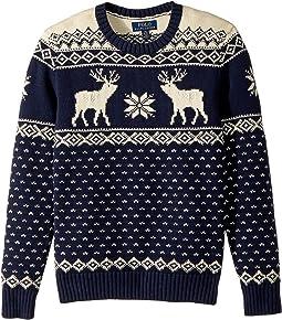 Polo Ralph Lauren Kids - Reindeer Cotton-Wool Sweater (Big Kids)
