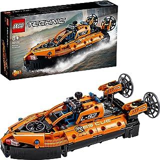 LEGO 42120 Teknisk räddning svävare till flygplansleksak, 2-i-1 modell, byggset för pojkar och flickor 8 år gammal