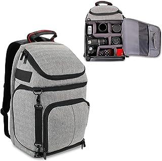 Mochila para cámara de Fotos Reflex USA GEAR con divisores Acolchados Personalizados Soporte para trípode Compartimento Ordenador portátil Funda de Lluvia y Almacenamiento de Accesorios