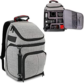 USA Gear DSLR Camera Backpack with Padded Dividers, Tripod Holder, Laptop Compartment, Rain Cover and Accessory Storage Compatible with Cameras from Nikon, Canon, Sony, Pentax and More