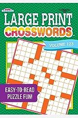 Large Print Crosswords Puzzle Book-Volume 123 Paperback