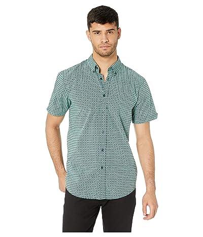 Ben Sherman Short Sleeve Checkerboard Sport Print Shirt (Mint) Men