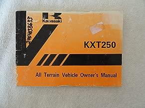1983 1984 Kawasaki KXT250 Owner's Manual KXT 250