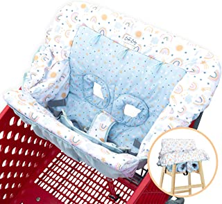 Bristin Baby Shopping Cart Cover. Cushy Baby Hammock for Shopping Cart and High Chair Cover. Shopping Cart Covers for Baby Boy or Baby Girl. Rainbow Infant Seat Grocery Cart Cover. Baby Gifts Unisex