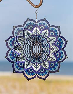 VP Home Kinetic 3D Metal Garden Wind Spinner (Mandala)