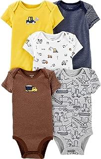 Carter's Baby Boys 5-Pack Original Short Sleeve Bodysuits (Blue/Red)