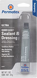 Permatex 85409-6PK Ultra Rubber Gasket Sealant and Dressing, 1 oz. tube (Pack of 6)