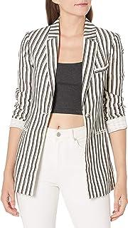 Women's Striped Long Sleeve Blazer