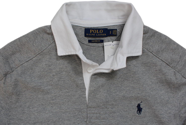 Ralph Lauren Polo hombres lujo doble costura rugby, ajuste ...